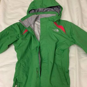 North Face Kids Green Shell